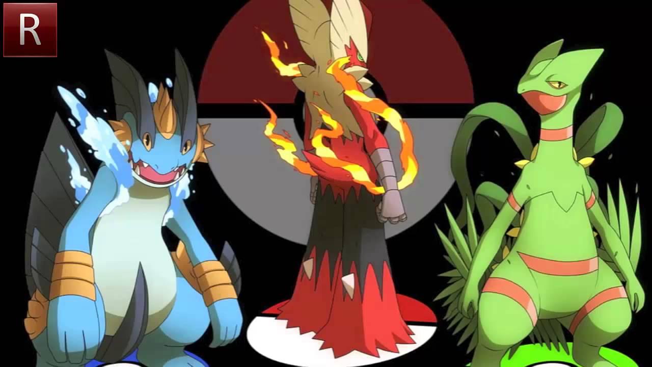 pokemon x and y all starter mega evolutions