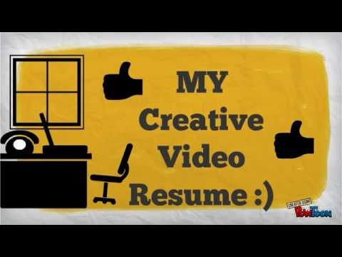 my Creative video resume - YouTube - video resume