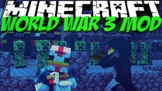 World War 3 Mod: Minecraft Rival Rebels Mod Showcase! Nukes & Capture the Flag!