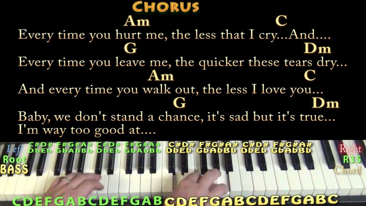 Way too good at goodbyes lyrics chords