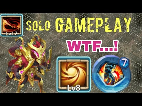 Asura | Sacred Light | Unbelievable |  Solo GamePlay | LBF/HT/Dungeon/Lybrith | Crazy | Castle Clash