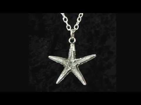 Starfish Pendant By Handcrafted Symbolic Jewellery UK