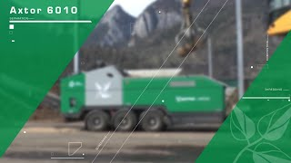 Komptech Axtor 6010 in shredding and chipping mode
