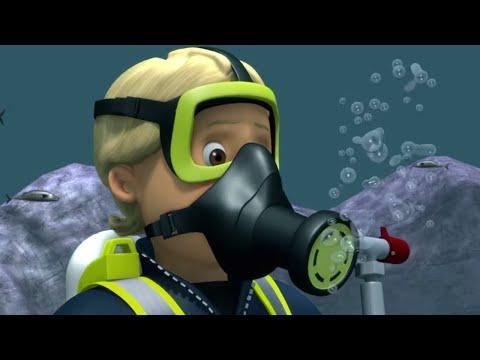 Mit Den Fischen Schwimmen   Feuerwehrmann Sam ⭐️ Neue Folgen   Zeichentrick Für Kinder