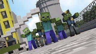 Minecraft сериал: День 1 Зомби Апокалипсис