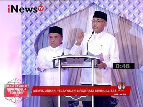 Debat Pilkada Aceh 2017 : Mewujudkan Pelayanan Birokrasi Berkualitas Part 02 - INews TV 31/01