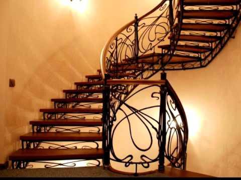 Перила 128  Кованые винтовая лестница на второй этаж частный дом Днепропетровск, Днепр