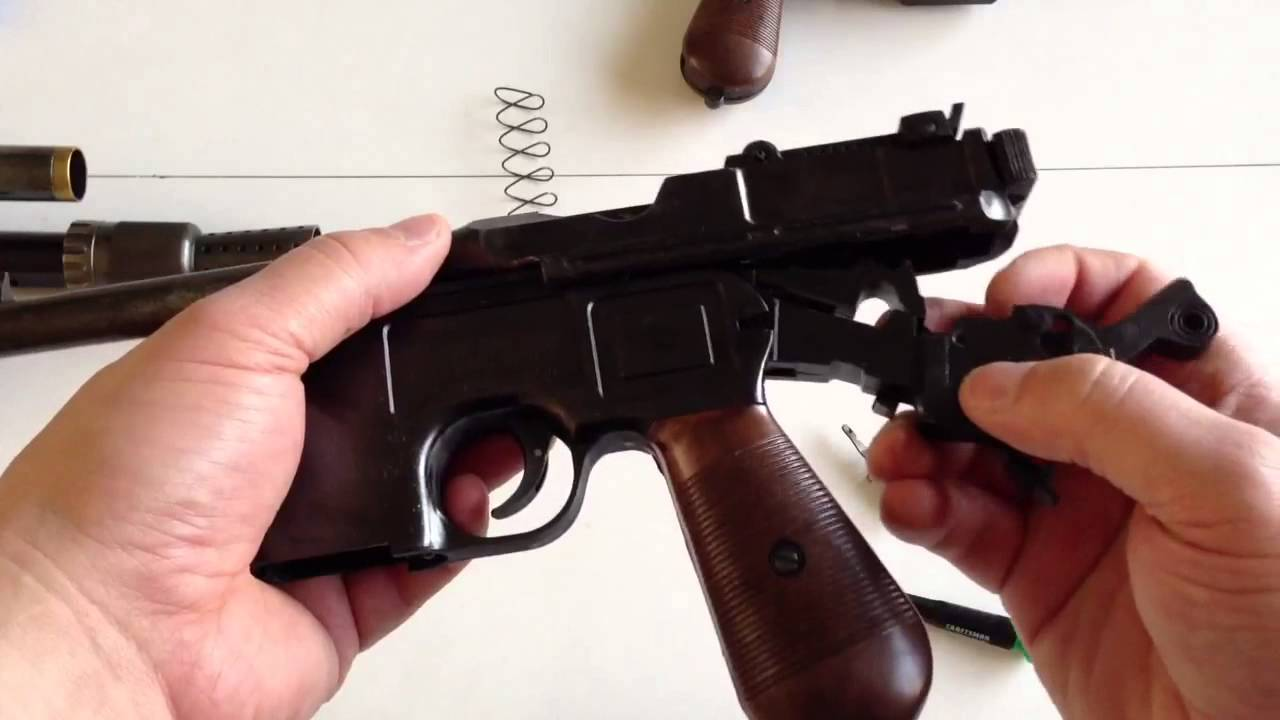 Mgc Broomhandle mauser C96 field strip - YouTube