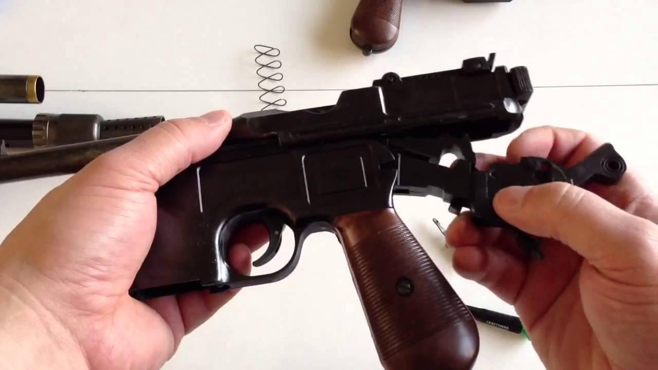 Mgc Broomhandle mauser C96 field strip - YouTube