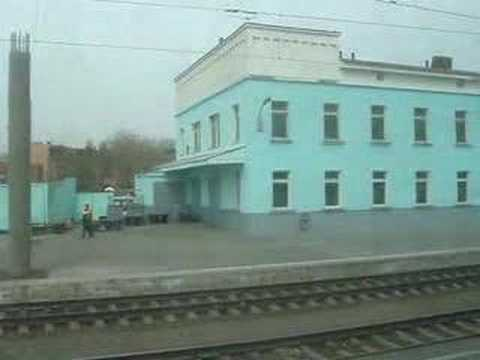 Arriving at Omsk Station by train