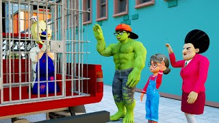 Nick Police & MissT vs Ice Scream 4 Rescue Tani - Scary Teacher 3D Nick Hulk Animation