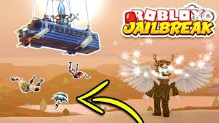 PLAYING FORTNITE IN ROBLOX JAILBREAK! *CHALLENGE!*