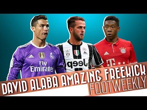 FootWeekly ● David Alaba Amazing Freekick #5