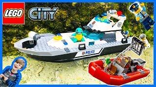 Lego City Police Patrol Boat at the Beach!