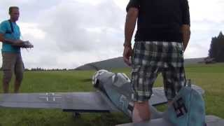 huge rc focke wulf more at 2 20m wingspan with 5 star super moki motor wifh great sound