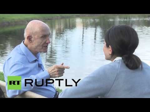 USA: Astronaut Tom Stafford talks of brotherhood with Alexei