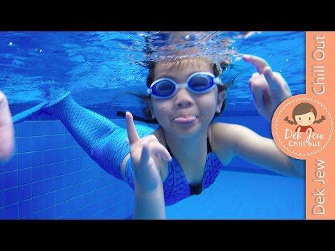 เด็กจิ๋วว่ายน้ำด้วยชุดหางนางเงือก Mermaid [N'Prim W289]
