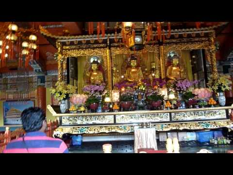 Lantau Island Po Lin Monastery Monks Chanting - Hong Kong