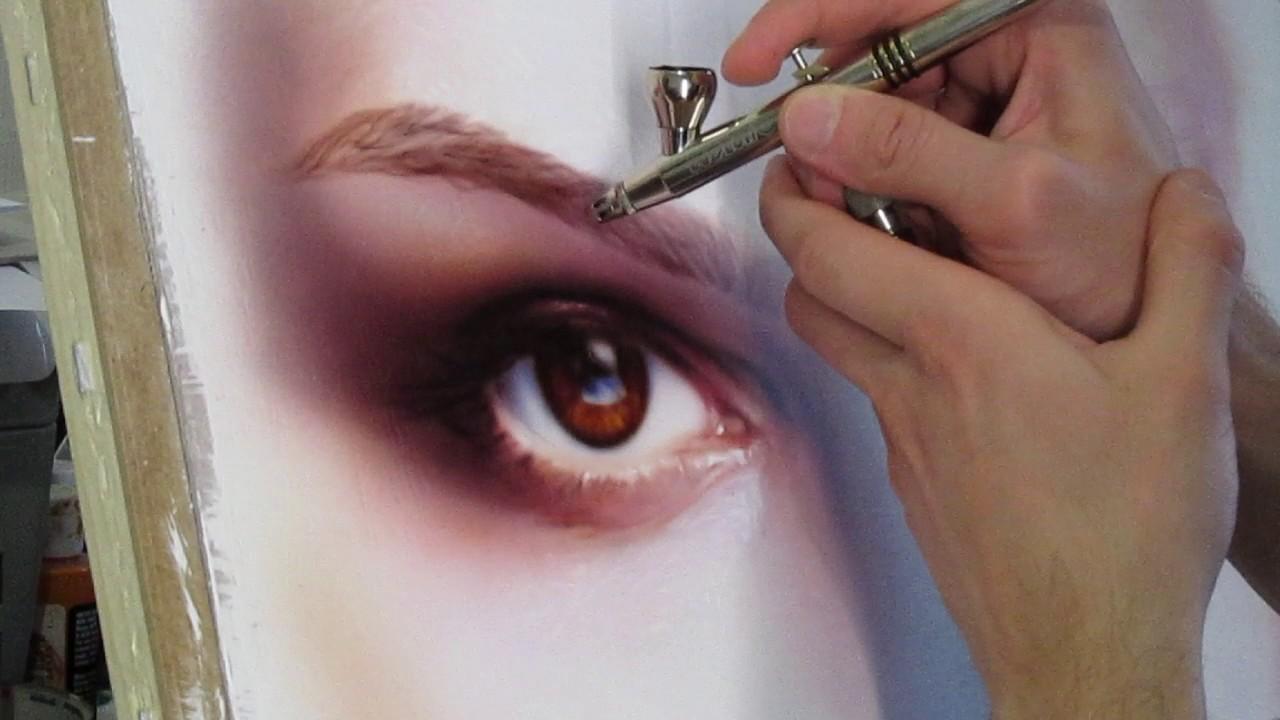 Аэрография: Как нарисовать живые глаза