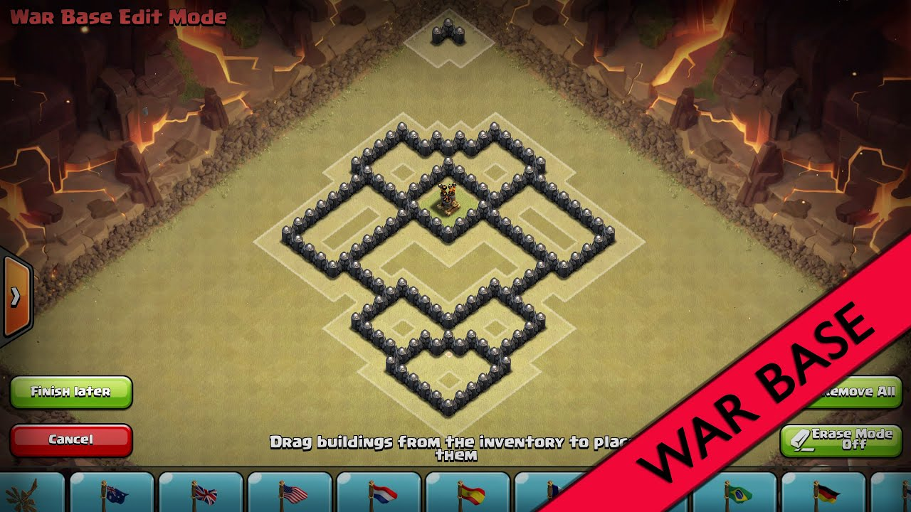 Clash of Clans I Beasty TH6 War Base I Anti Giant&Healer [2015 ...: www.youtube.com/watch?v=c03Vc-9aS24