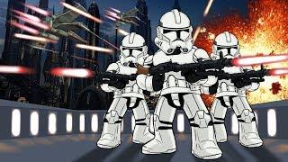 Roblox | STAR WARS MOVIE: Droids vs Clone Troopers! (Roblox Star Wars Battlefront)