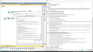 Lab 5.1.5.7 Packet Tracer - Configuring OSPF Advanced Features