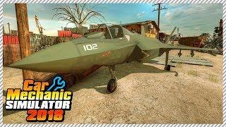 Скачать Car Mechanic Simulator 2018 Junkyard Rescue Fighter Jet Ep 32