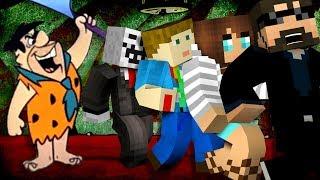 Minecraft: FLINTSTONE YOUTUBER MURDER   MODDED MINI-GAME