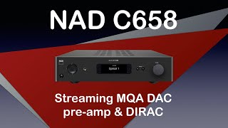 NAD C658 BluOS Streaming DAC with DIRAC and MQA