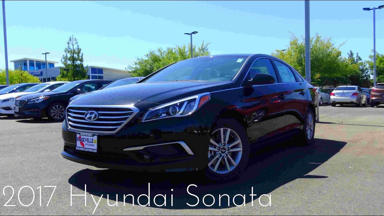 2017 hyundai sonata se 2 4 l 4 cylinder review youtube. Black Bedroom Furniture Sets. Home Design Ideas