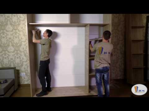 сборка мебели шкаф-купе!
