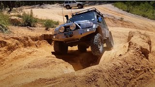 toyota landcruiser 76 series v8 on portal axles offroad flexing and big wheel lifts