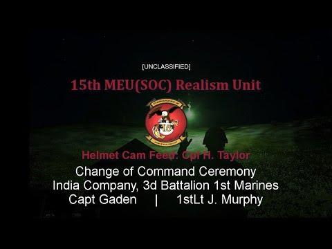15th MEU (SOC) Change of Command - India Co 3/1