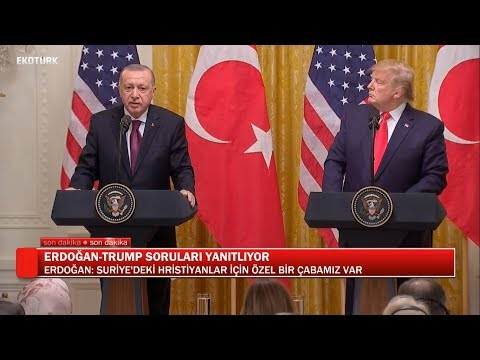 Erdoğan-Trump Ortak Açıklaması (Tamamı)   Ali Değermenci   13 Kasım 2019