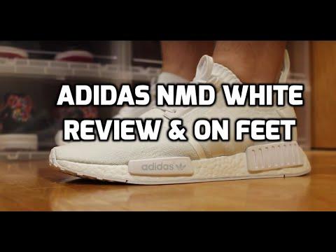 adidas nmd triplo white revisione & in piedi!su youtube