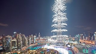 Dubai Firework 2017 New year World Records FULL Celebration burj khalifa