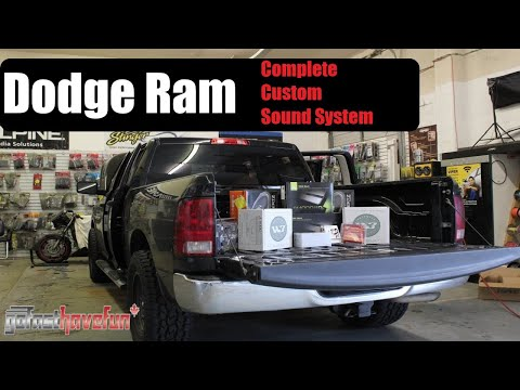 Builds: Dodge RAM Full Install Sound System (Custom audio, video, Security and Remote Starter)
