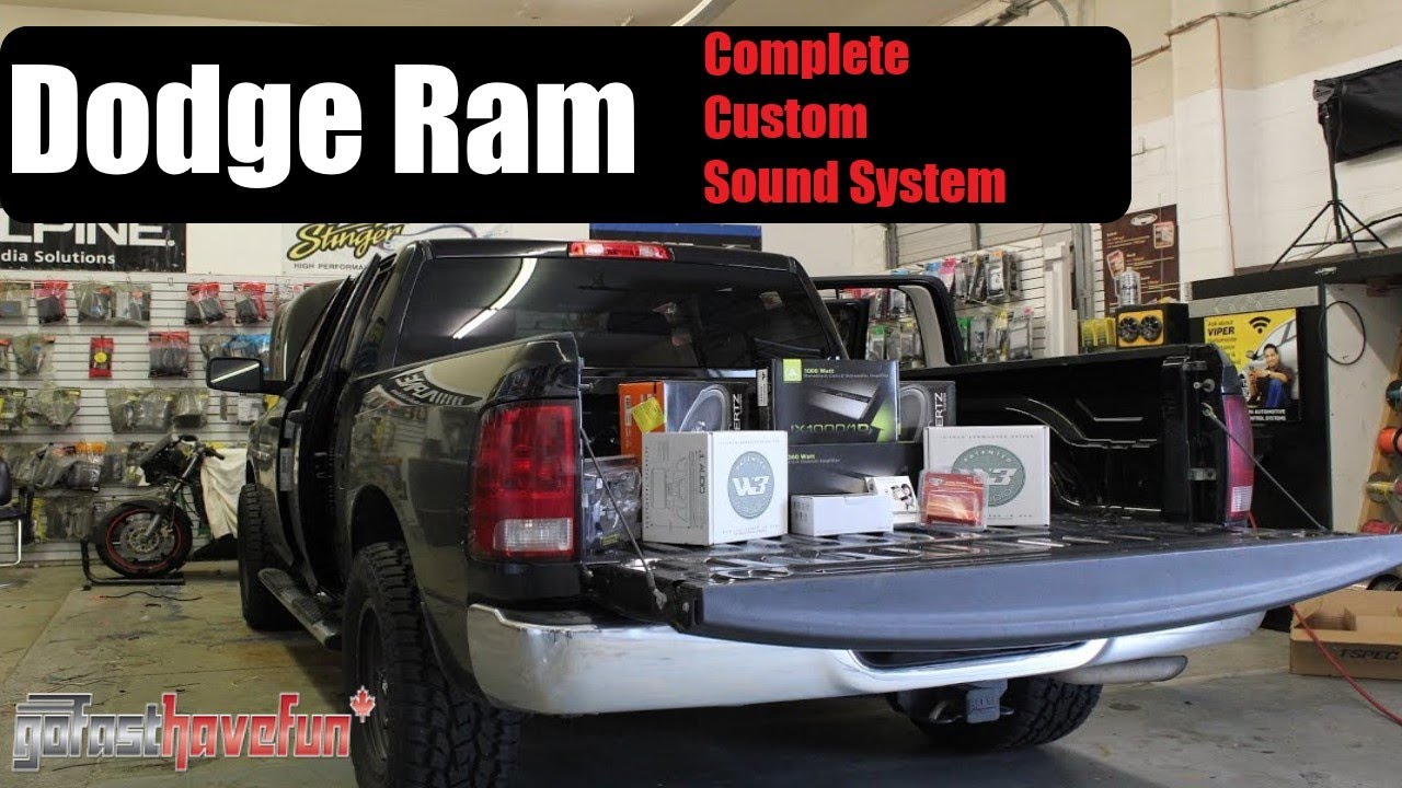 Builds Dodge RAM Full Install Sound System Custom audio video