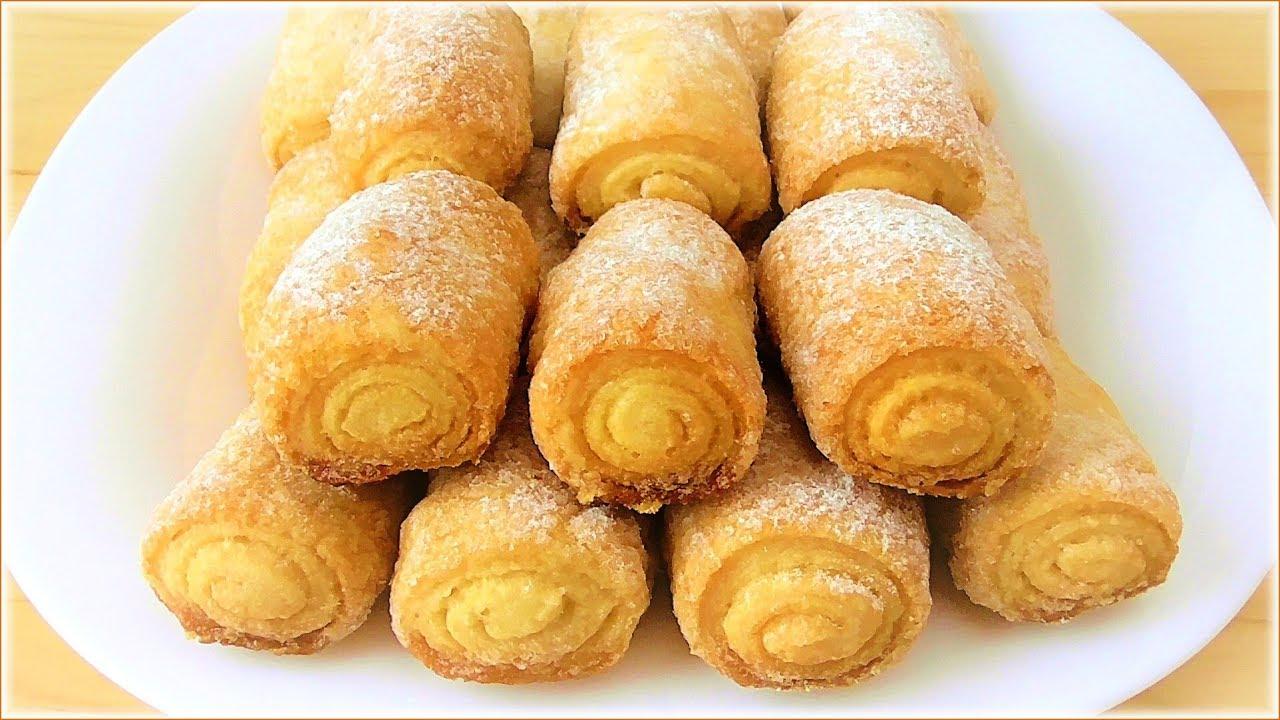 """Печенье """"Сахарные трубочки""""   Рецепты на FooDee.top"""