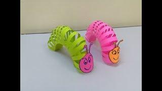 Como hacer gusano de papel para niños - Juego para niños fáciles