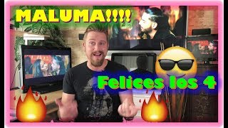 Maluma - Felices los 4 (Salsa Version)[Official Video] ft. Marc Anthony REACTION VIDEO!