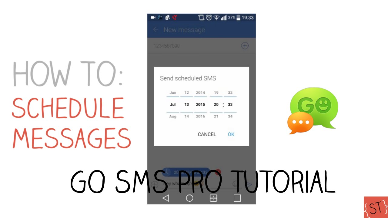 How to Schedule Text Messages #3 (GO SMS Pro) - 2015 | SoleilTech image