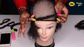 HOW TO MAKE AN AFRO WIG - I MADE MY FIRST WIG!