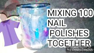 Mixing 100 nail polishes together #challenge