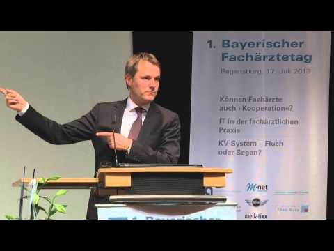 Impulsreferat Daniel Bahr -  1. bay. Fachärztetag