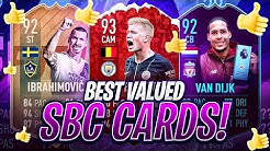THE BEST SBC CARDS FOR VALUE IN FIFA 19! FIFA 19 Ultimate Team