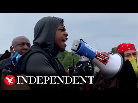John Boyega makes impassioned speech at George Floyd protest in Hyde Park