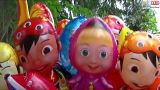 Lagu Balonku Ada Lima - Mainan Balon Pokemon, Upin Ipin, Masha, Boboiboy, Doraemon, Frozen