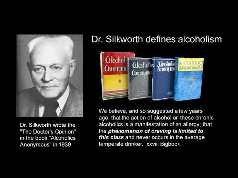 Dr Silkworth defines alcoholism