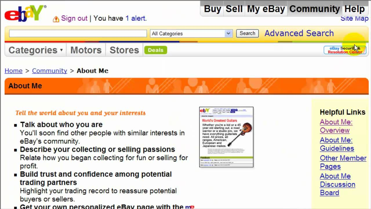 Create An eBay About Me Page - eBay Video Tutorial 34 of 34 - YouTube